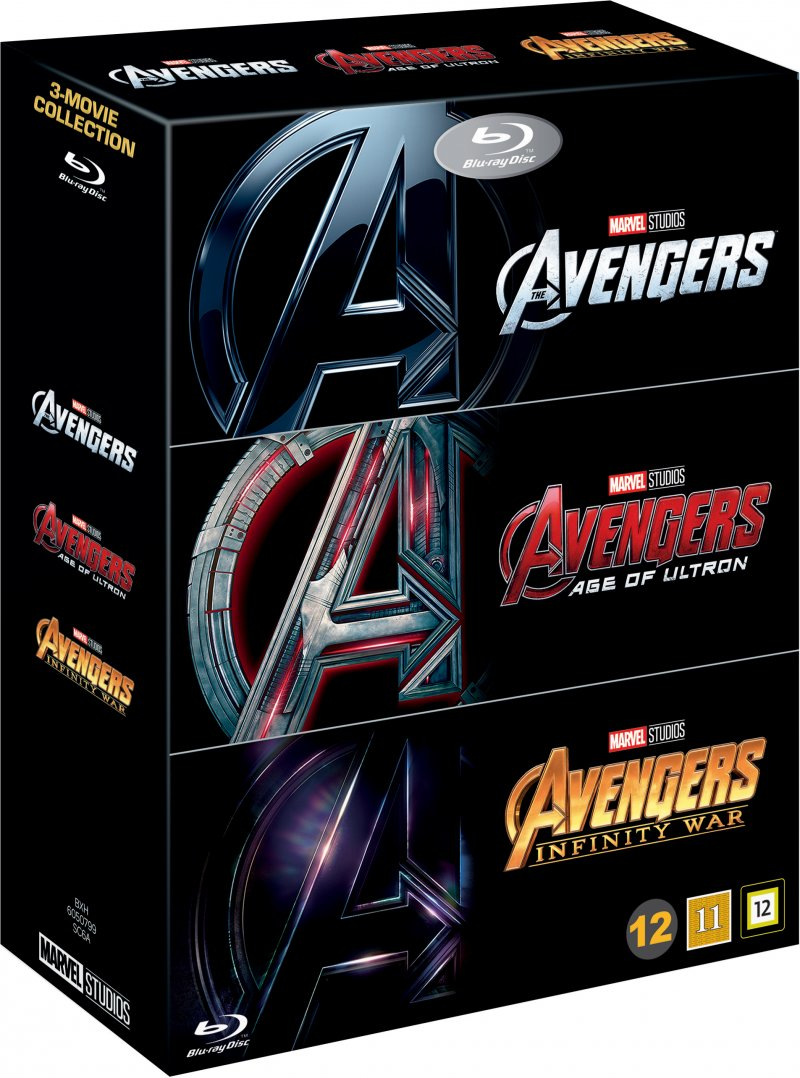 Image of   Avengers 1-3 - Box Set - Blu-Ray