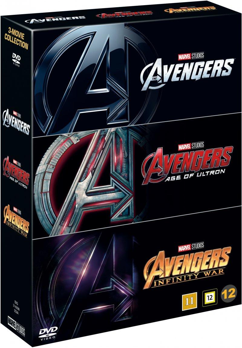 Image of   Avengers 1-3 - Box Set - DVD - Film