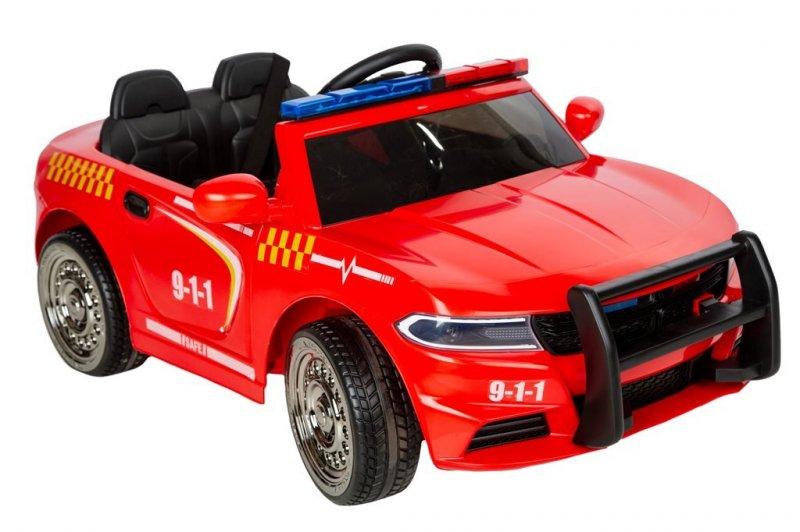 Image of   Azeno - El Bil Til Børn - 12v - Rød Brandbil