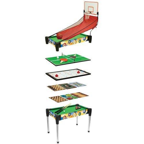 10-i-1 Mini Airhockey, Bordtennis Og Basketbord Med Brætspil
