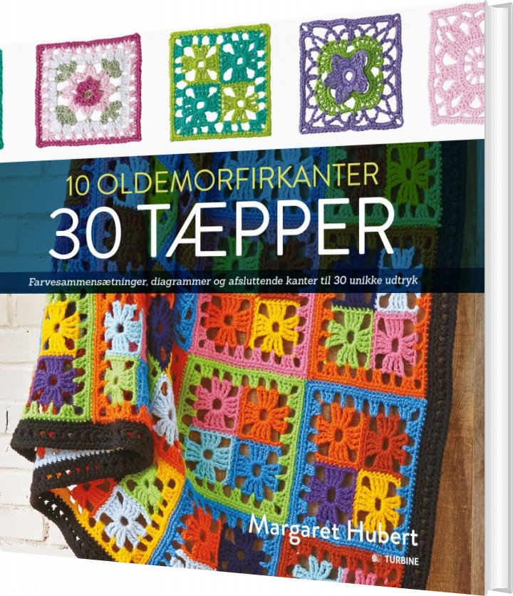 Image of   10 Oldemorfirkanter 30 Tæpper - Margaret Hubert - Bog