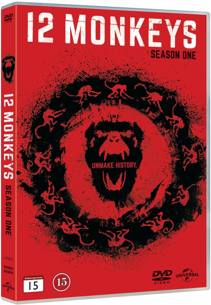 Image of   12 Monkeys - Sæson 1 - DVD - Tv-serie