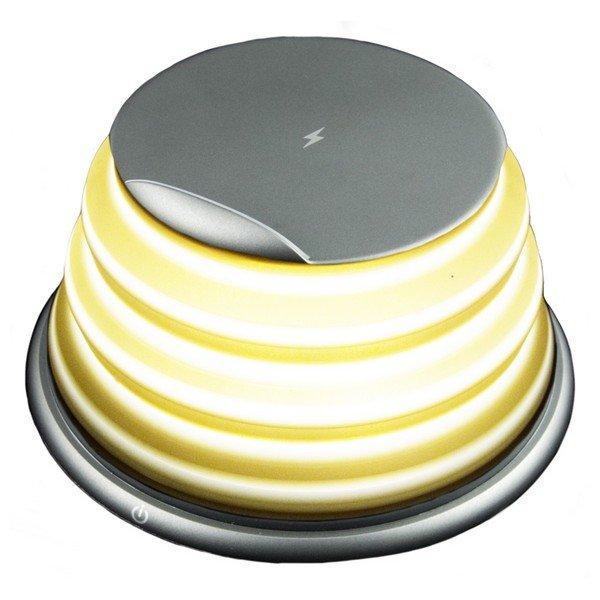 Image of   2-i-1 Led Bordlampe Med Trådløs Qi Oplader Til Mobil