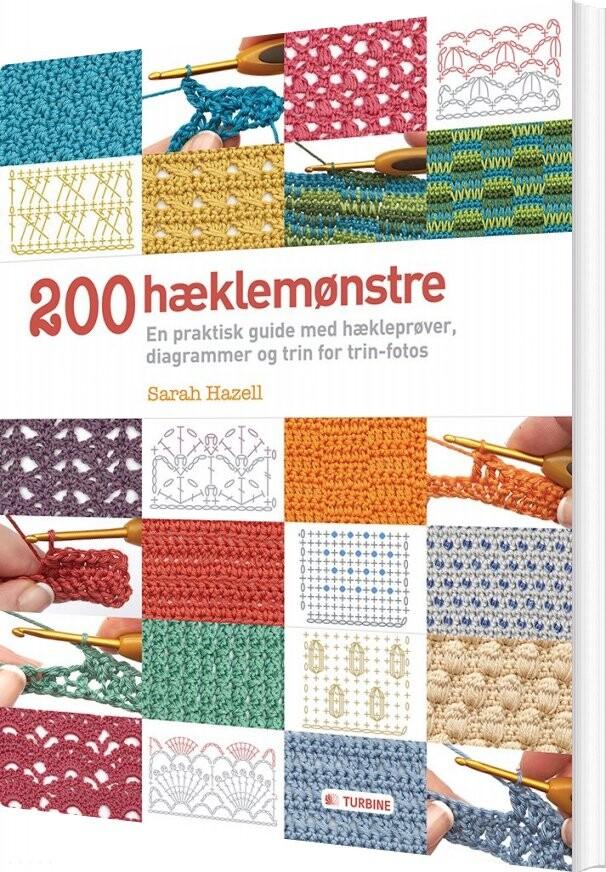 Image of   200 Hæklemønstre - Sarah Hazell - Bog