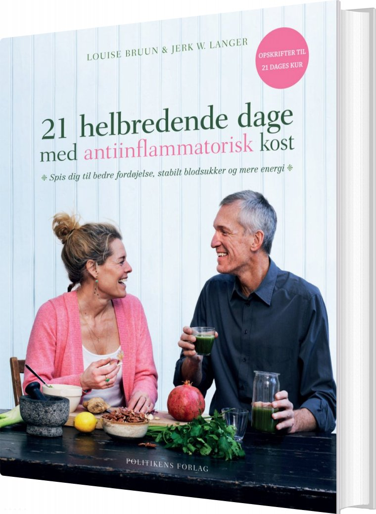 21 Helbredende Dage Med Antiinflammatorisk Kost - Jerk W. Langer - Bog