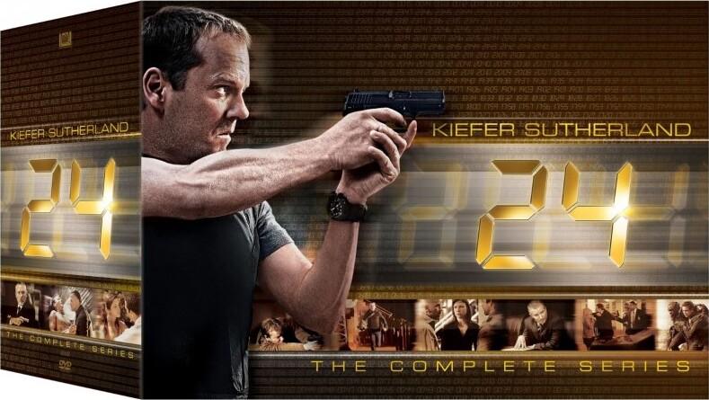 24 Timer Boks - Komplet Samling - Sæson 1-9 + Redemption I Box - DVD - Tv-serie