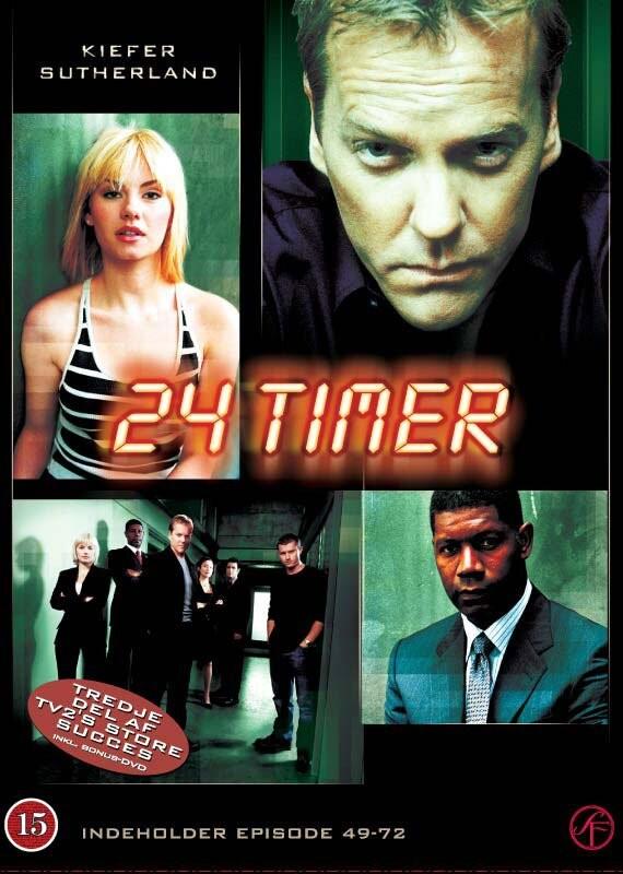 Image of   24 Timer - Sæson 3 - DVD - Tv-serie