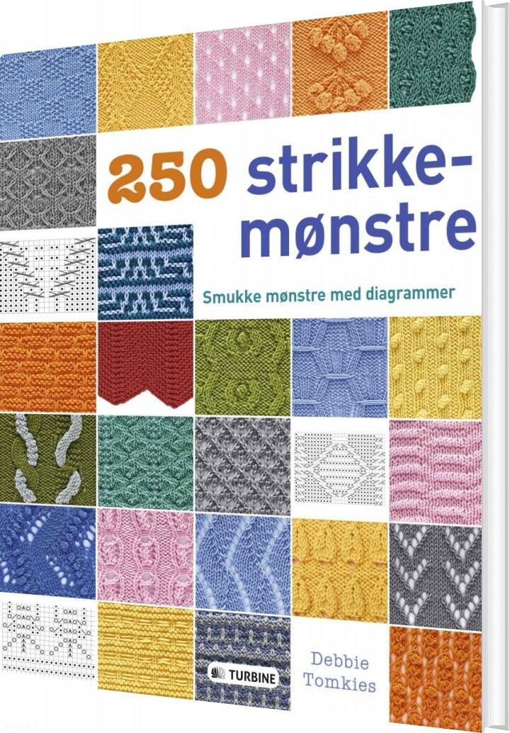 Image of   250 Strikkemønstre - Debbie Tomkies - Bog