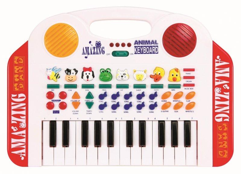 Image of   Keyboard Legetøj Med Dyrelyde Til Børn - 24 Tangenter