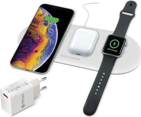 Billede af 3-i-1 Trådløs Qi Oplader Til Iphone Android Airpods