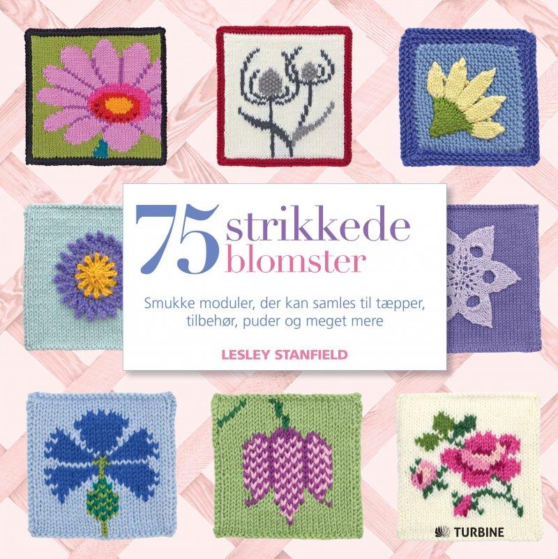 Image of   75 Strikkede Blomster - Lesley Stanfield - Bog