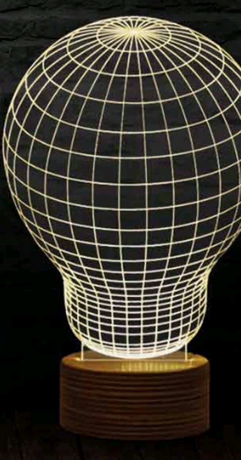 Image of   3d Illusion Lamp - Light Bulb