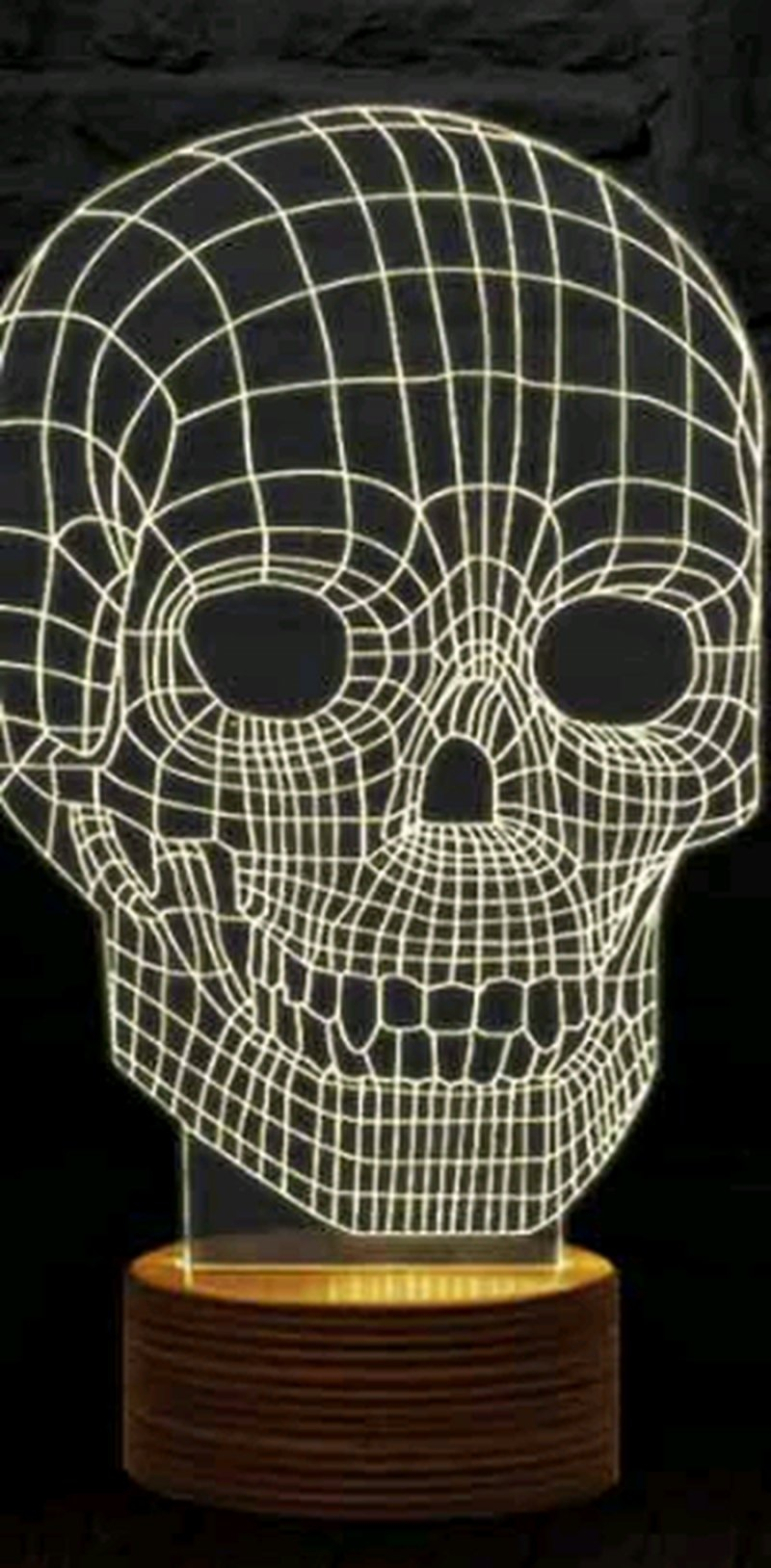 Image of   3d Illusion Lamp - Skull