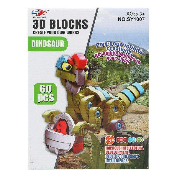 Image of   3d Puslespil Med Dinosaur - 60 Dele