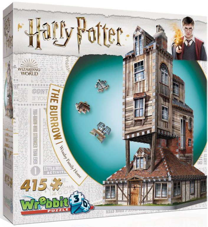 Image of   3d Puslespil - Harry Potter - The Weasley Burrow - 415 Brk.