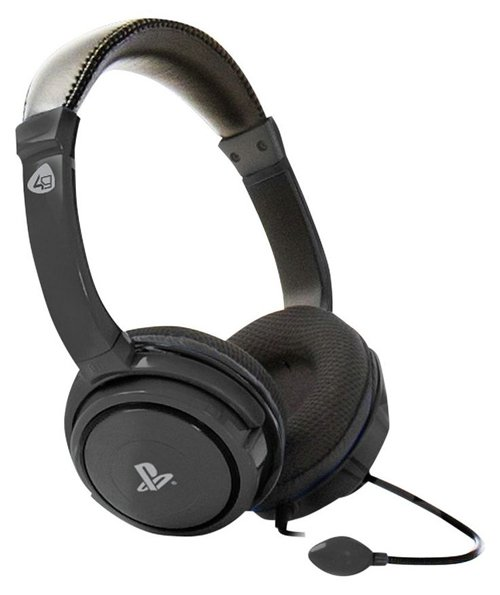 Image of   4gamers Pro4-40 - Stereo Gaming Headset Til Ps4 - Sort