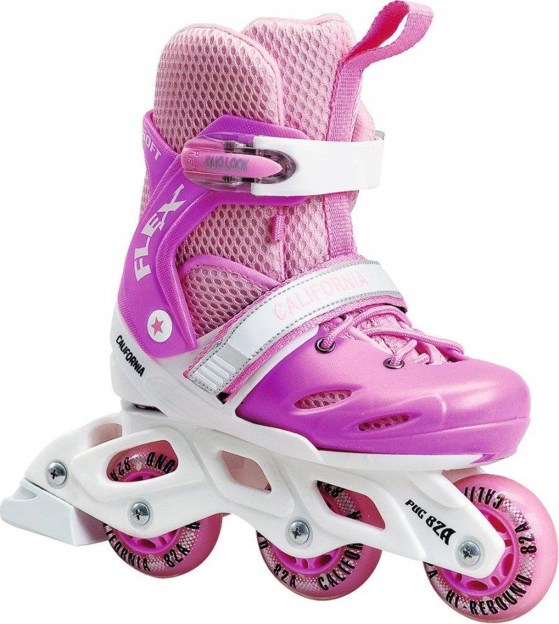 2 i 1 Flex Coolgirl rulleskøjter, 3 wheeler, rulleskøjter 3 hjul