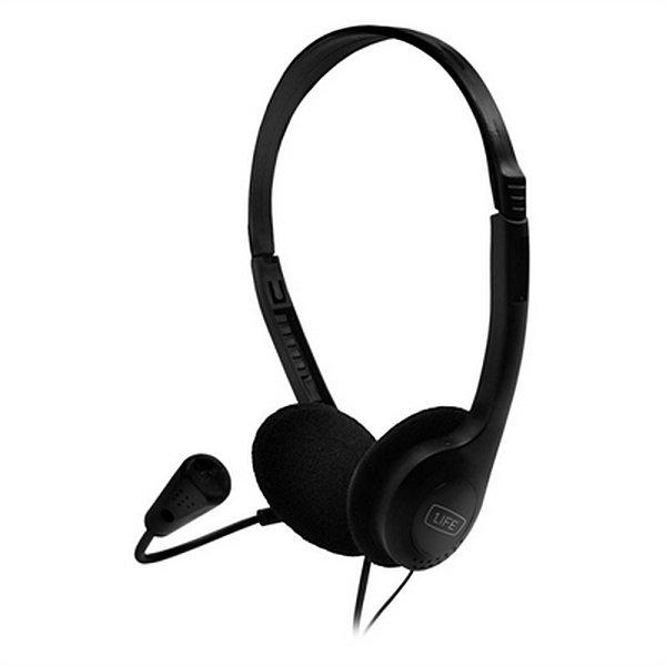 0e5fa3eca8b 1life Hovedtelefoner Med Mikrofon - 1,8 M Kabel - Sort → Køb billigt her