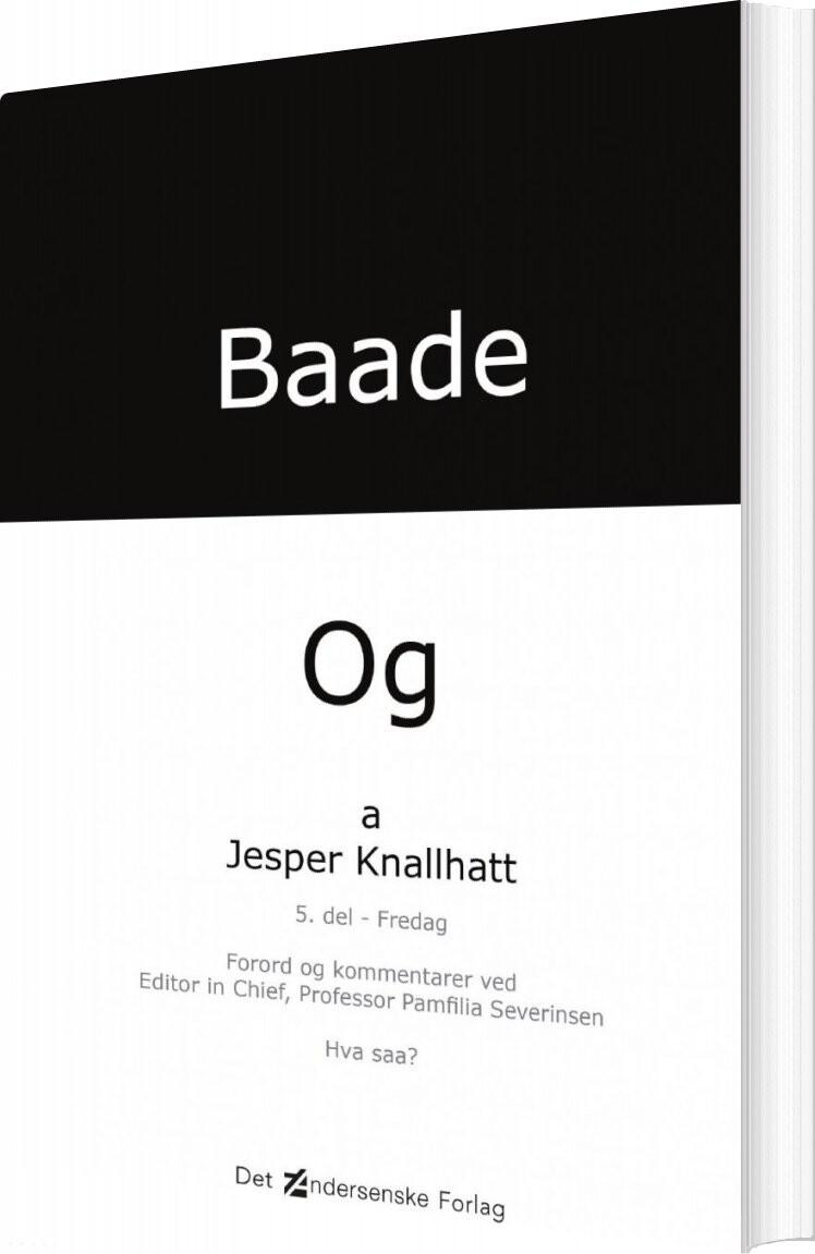 Baade - Og Onsdag - Jesper Knallhatt - Bog