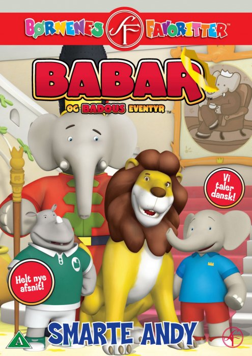Image of   Babar Og Badous Eventyr 6 - Smarte Andy - DVD - Film