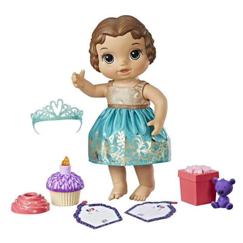 Image of   Baby Alive Dukke - Cupcake Birthday Baby - Brunt Hår