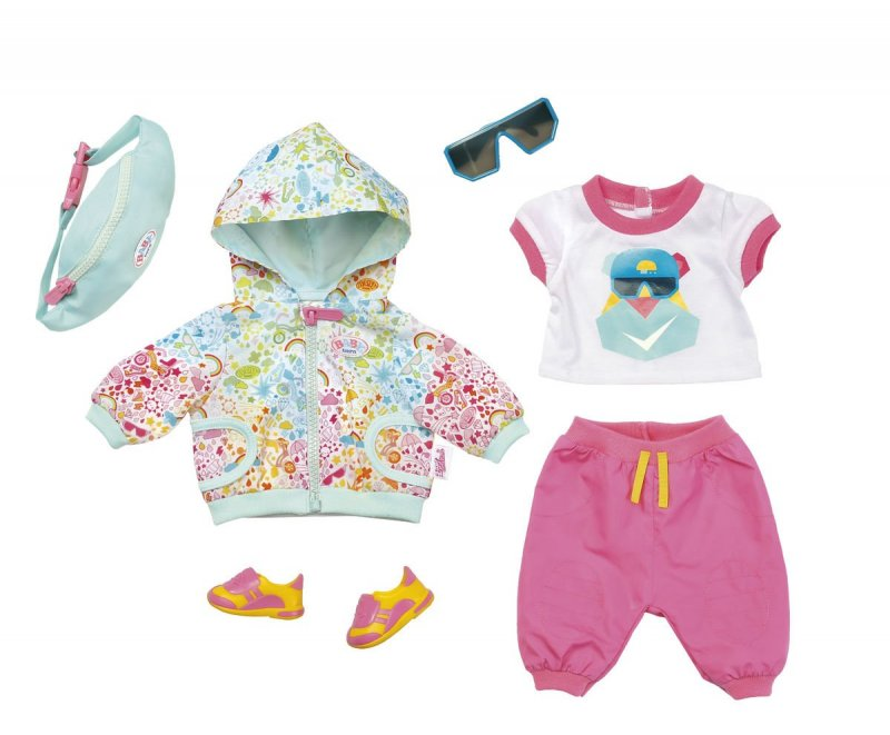 Image of Baby Born Dukketøj - Play And Fun - Deluxe Biker Outfit