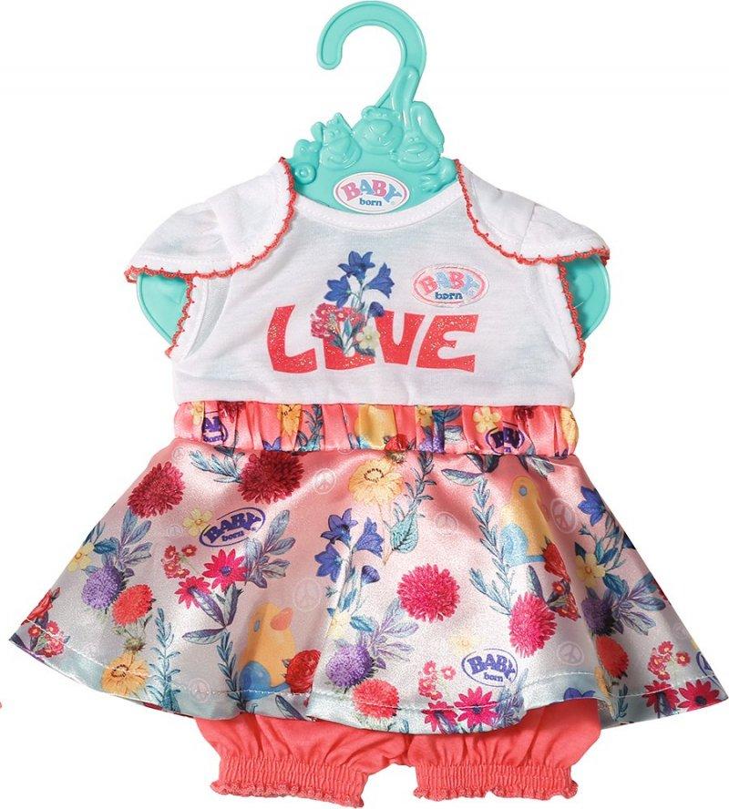 Image of   Baby Born - Dukkekjole Til Baby - Love Blomster