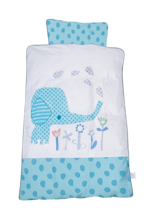 Baby Dan - Baby Sengesæt Elefantastic Blå