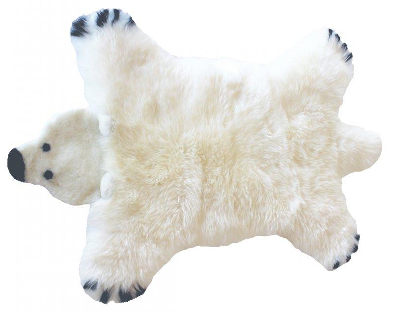 Image of   Baby Dan - Bjørn Lammeskind 80x130 Cm - Isbjørn