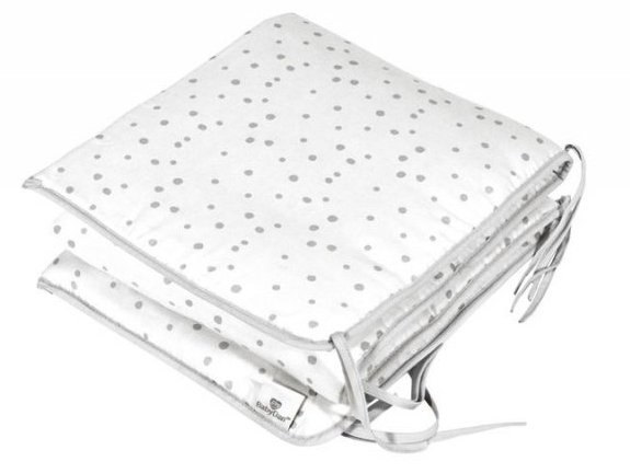 Baby Dan - Cot Bumper Satin Dots Grå Til Alfred By My Side