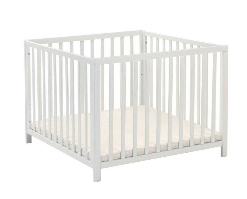 Babydan Kravlegård I Træ - Felix - Hvid