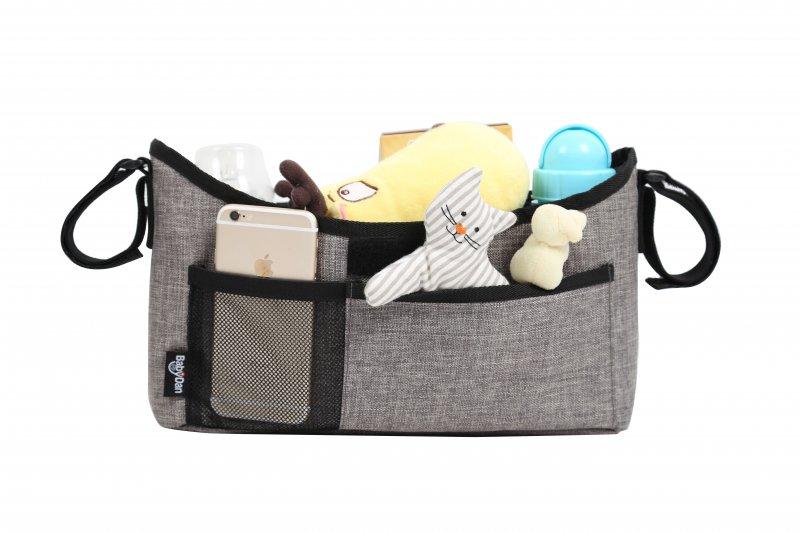 Image of   Baby Dan - Stroller Organizer - Luxury Grey