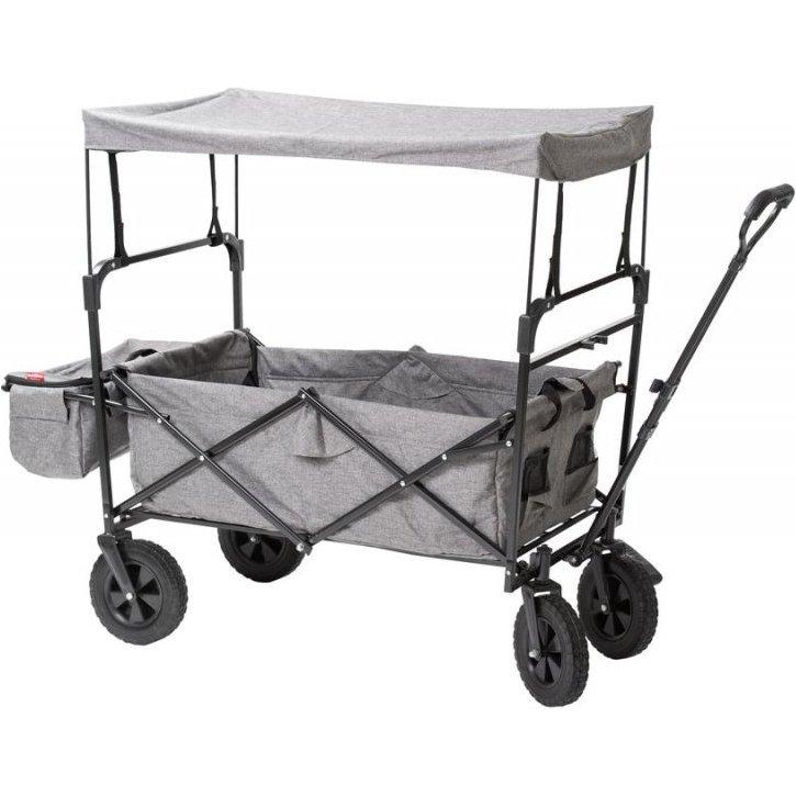 Babytrold Foldbar Trækvogn Med Tag - Sammenklappelig