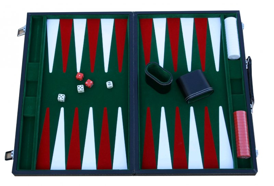Backgammon Brætspil I Kuffert - Vinyl - Stor Udgave