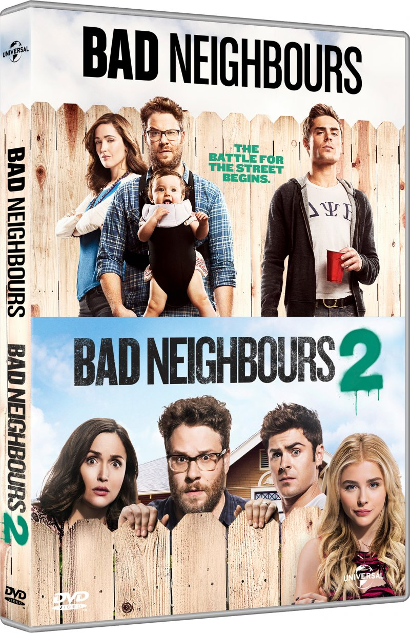 Image of   Bad Neighbours 1 // Bad Neighbours 2 - DVD - Film