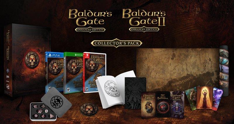 Image of   Baldurs Gate Enhanced & Baldurs Gate 2 - Collectors Pack - PS4