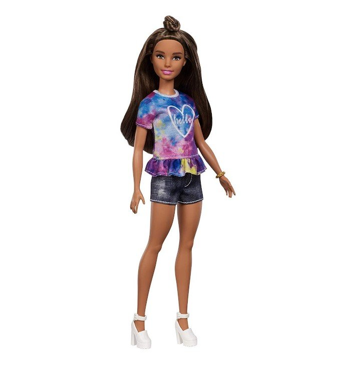 Image of   Barbie Fashionistas Dukke - Kort Dukke Med Jean Shorts
