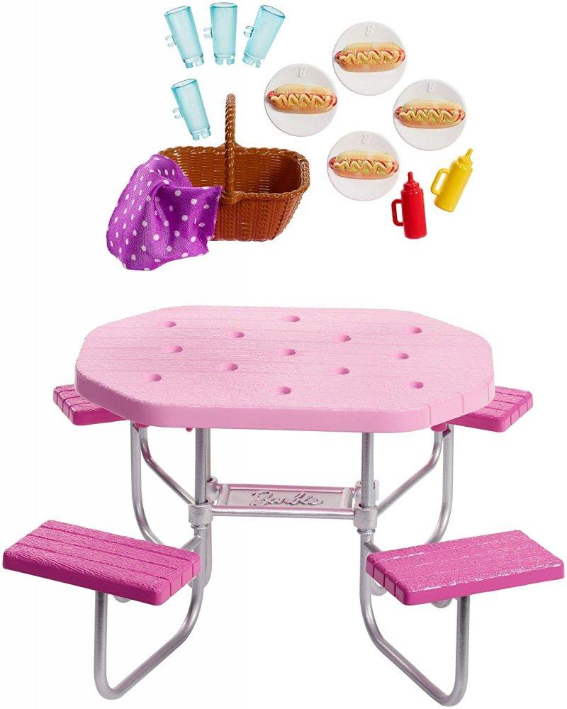 Fin Barbie Udendørs Dukke Møbler - Piknik Bord → Køb billigt her CA-33