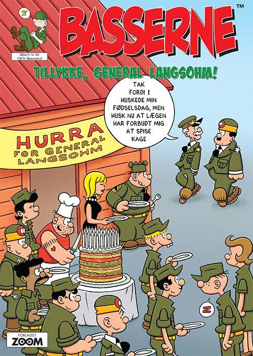 Image of   Basserne - Tillykke, General Langsohm - Mort Walker - Tegneserie