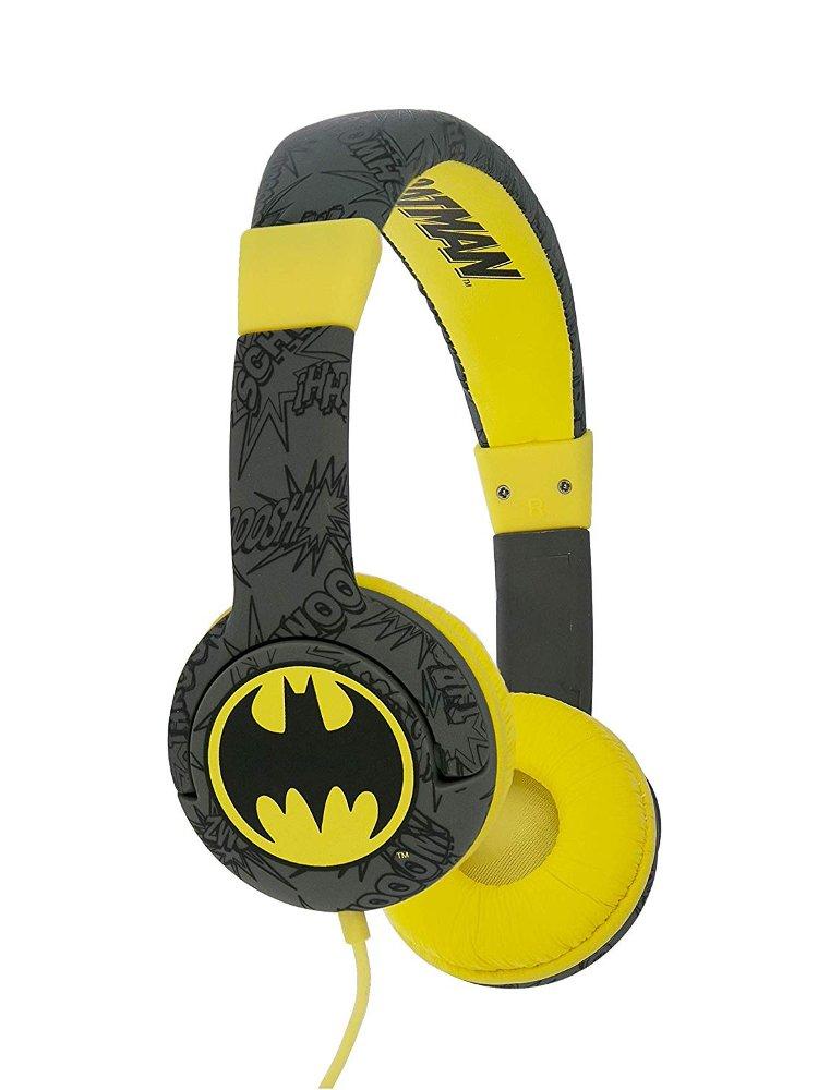 """Image of   Batman """"bat Signal"""" Hovedtelefoner I Gul Og Sort"""