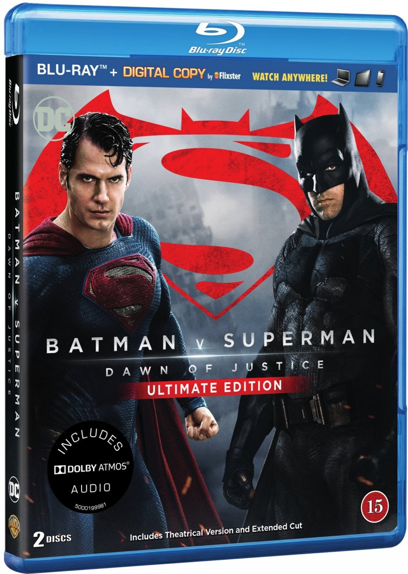 Image of   Batman Vs Superman: Dawn Of Justice - Ultimate Edition - Blu-Ray