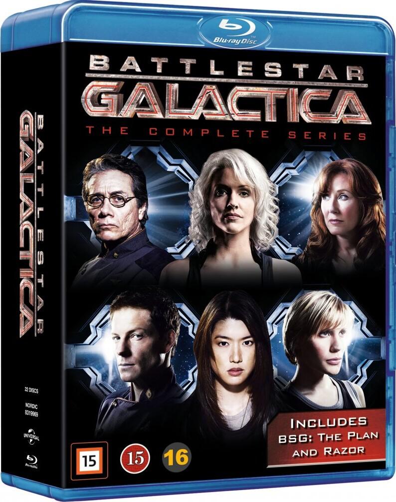 Image of   Battlestar Galactica - Den Komplette Serie - Blu-Ray - Tv-serie