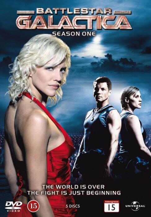 Image of   Battlestar Galactica - Sæson 1 - DVD - Tv-serie