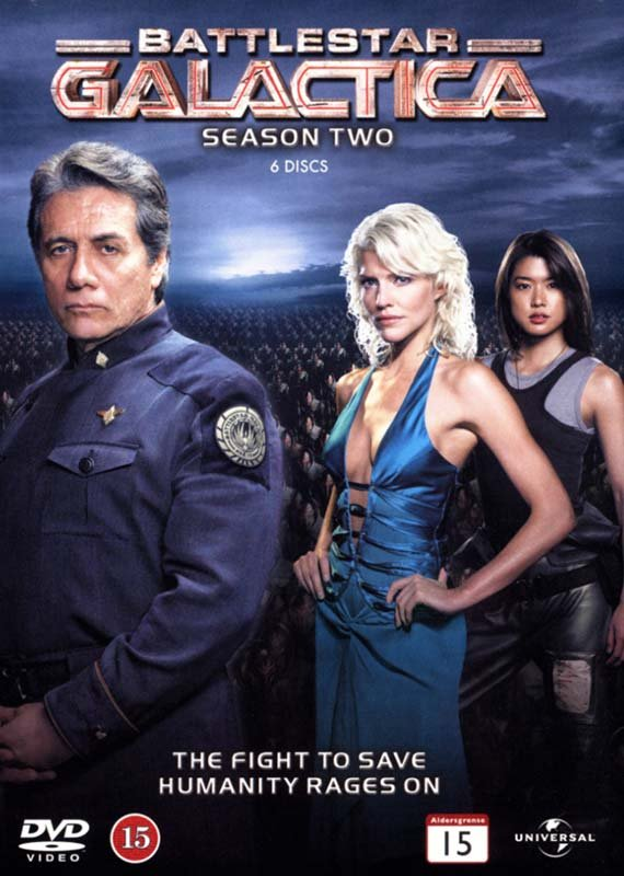 Image of   Battlestar Galactica - Sæson 2 - DVD - Tv-serie