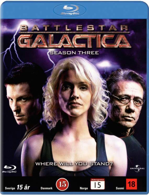 Image of   Battlestar Galactica - Sæson 3 - Blu-Ray - Tv-serie