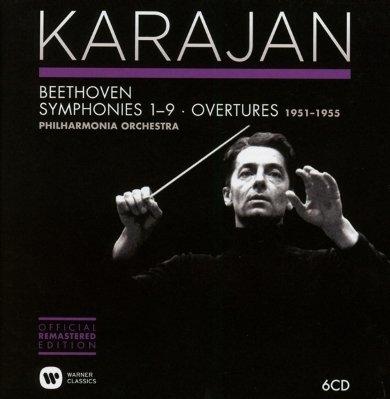 Image of   Herbert Von Karajan - Beethoven Symphonies 1-9 Overtures 1951-1955 - CD