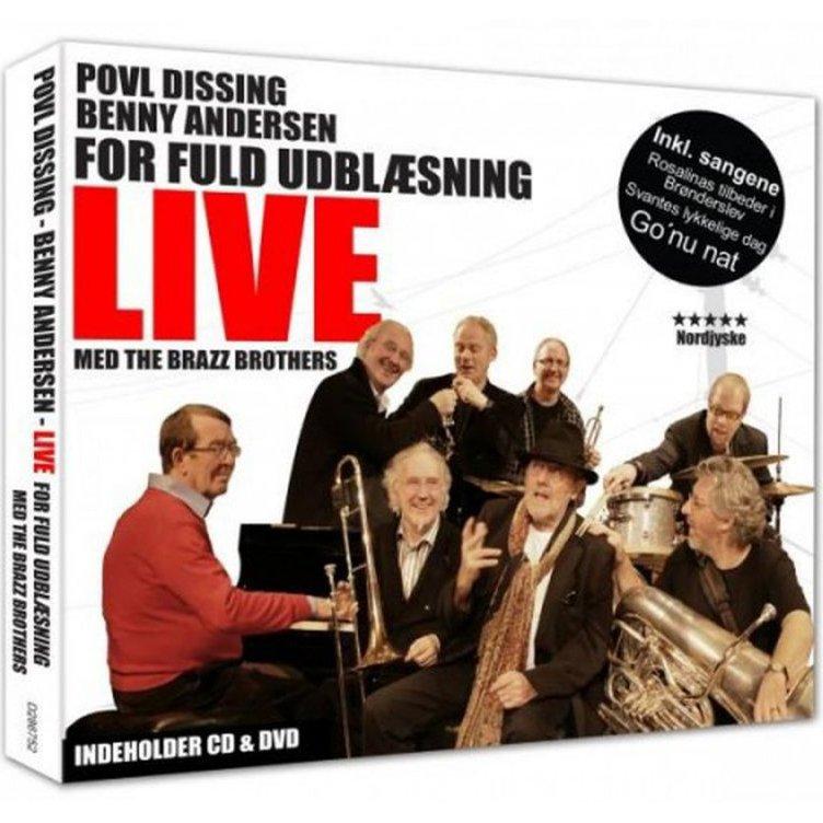 Image of   Benny Andersen Og Povl Dissing - For Fuld Udblæsning - Live Cd + Dvd - CD