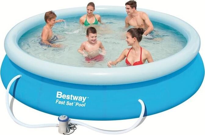 Kendte Stort Badebassin / Pool Til Haven Med Pumpe - Bestway 366 Cm ZE-12