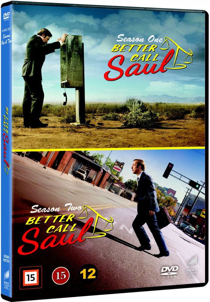 Image of   Better Call Saul - Sæson 1+2 - DVD - Tv-serie