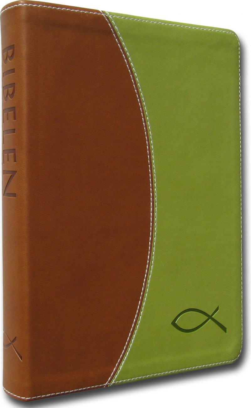 Image of   Bibelen På Hverdagsdansk, Brunt/grønt Skind - Diverse - Bog